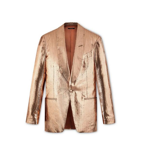 COPPER GEOMETRIC ATTICUS COCKTAIL JACKET A fullsize
