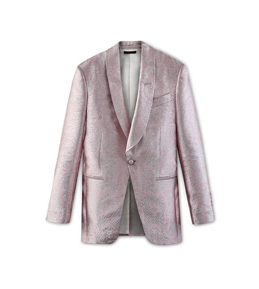 PINK JACQUARD ATTICUS COCKTAIL JACKET