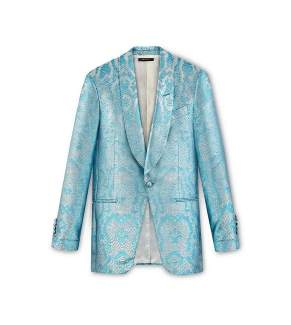 BLUE JACQUARD ATTICUS COCKTAIL JACKET A fullsize