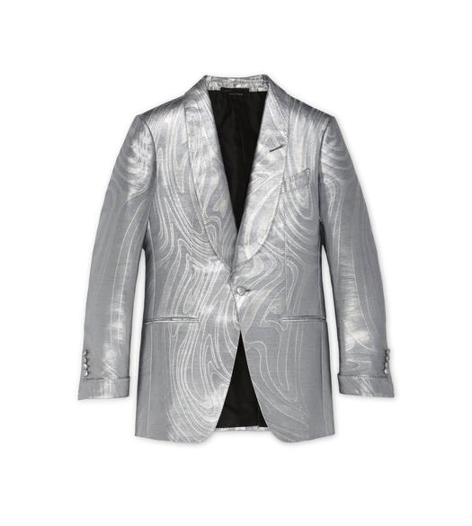 SILVER JACQUARD ATTICUS COCKTAIL JACKET