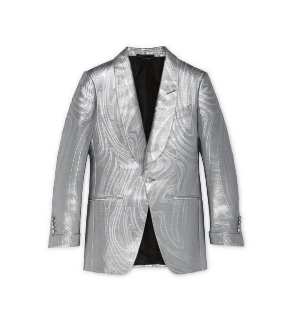 SILVER JACQUARD ATTICUS COCKTAIL JACKET A fullsize