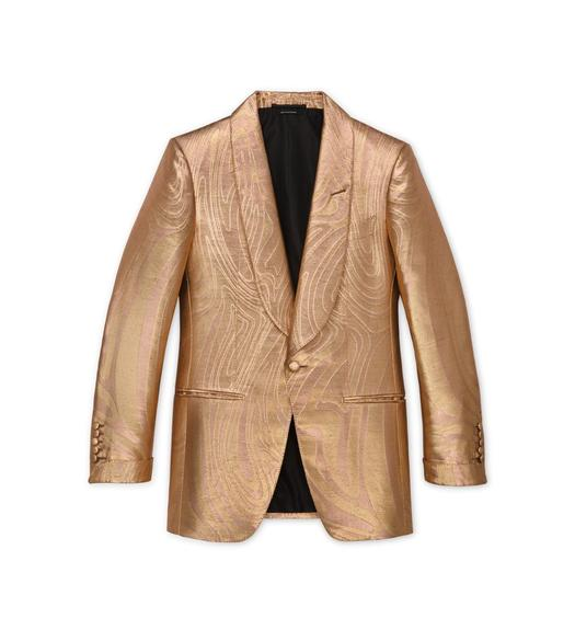 GOLD JACQUARD ATTICUS COCKTAIL JACKET