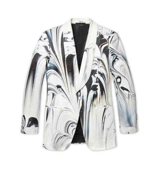 SMOKE SWIRL ATTICUS COCKTAIL JACKET