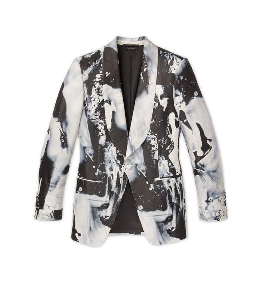PAINTED SWIRL ATTICUS COCKTAIL JACKET