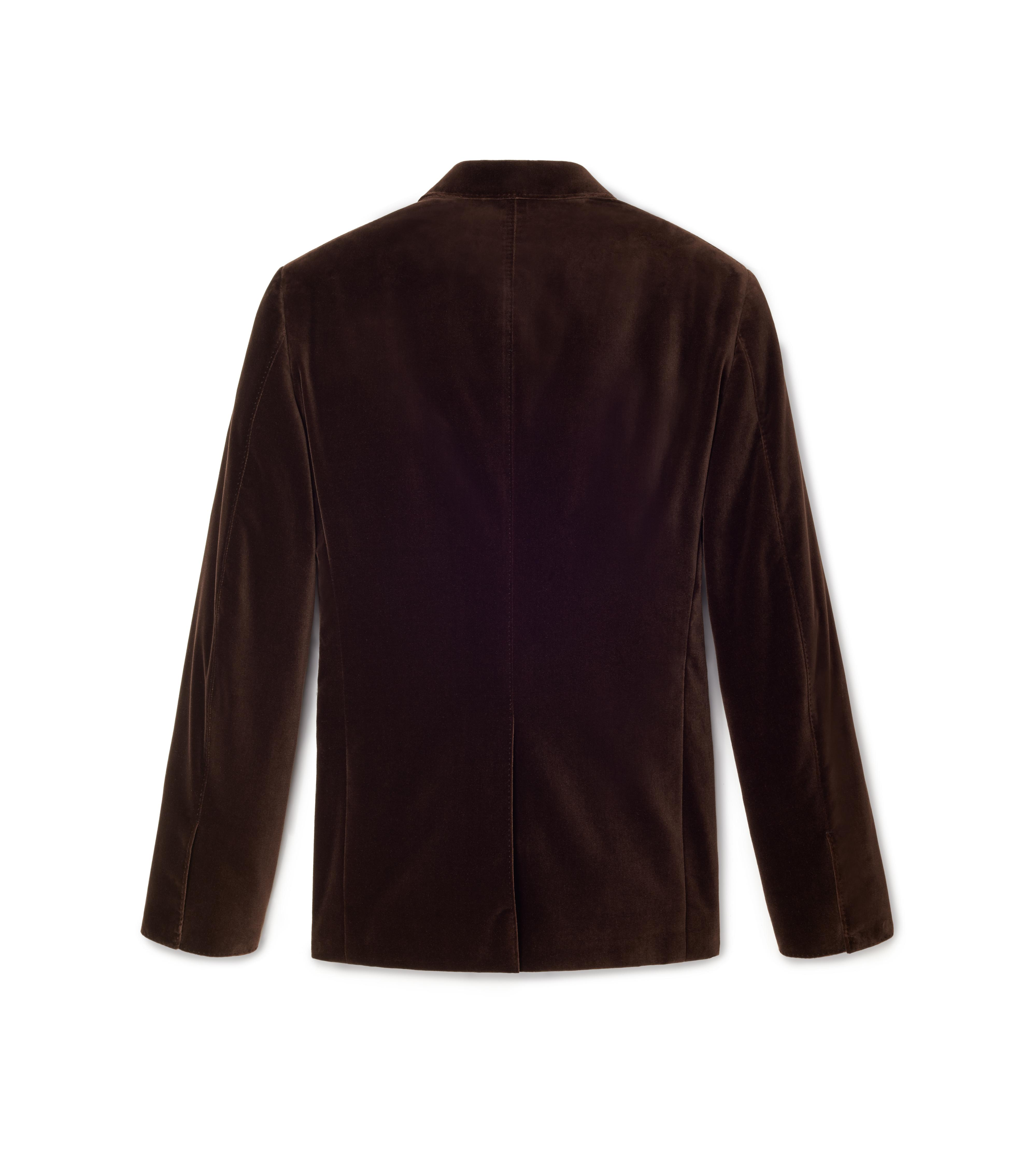 BROWN VELVET SHELTON JACKET B thumbnail
