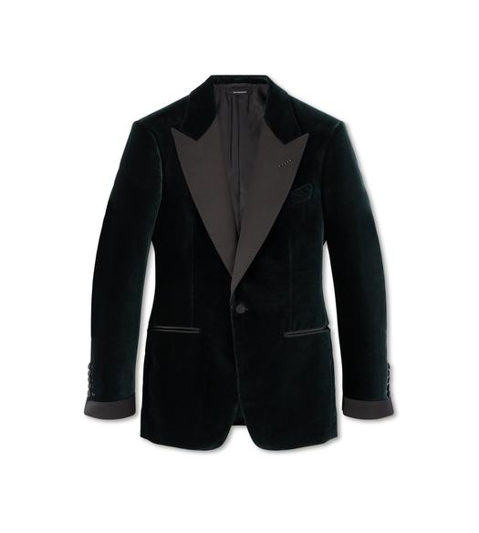 GREEN VELVET SHELTON COCKTAIL JACKET