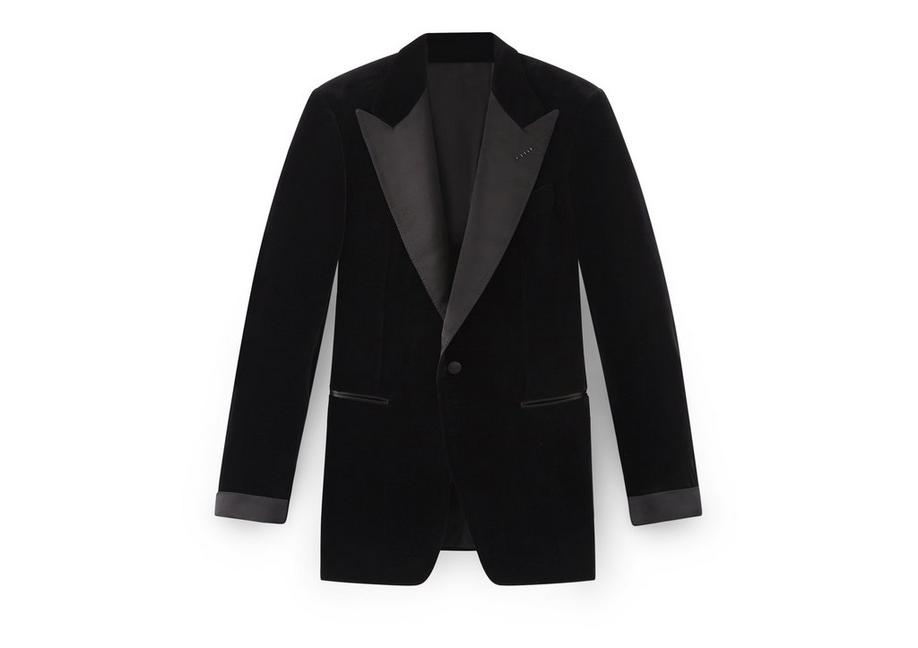 BLACK VELVET SHELTON COCKTAIL JACKET A fullsize