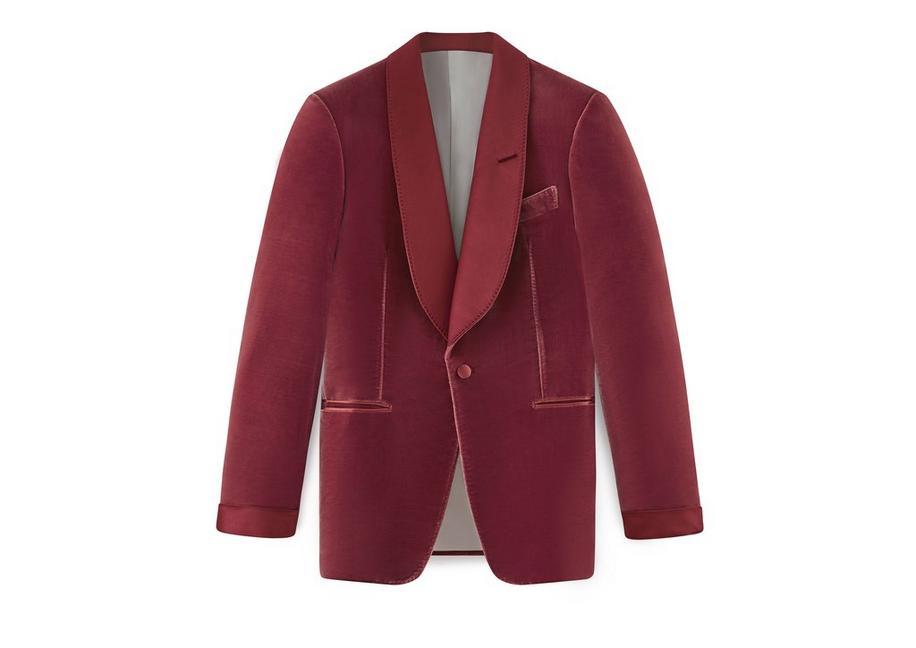 VELVET SHELTON SHAWL COLLAR COCKTAIL JACKET A fullsize