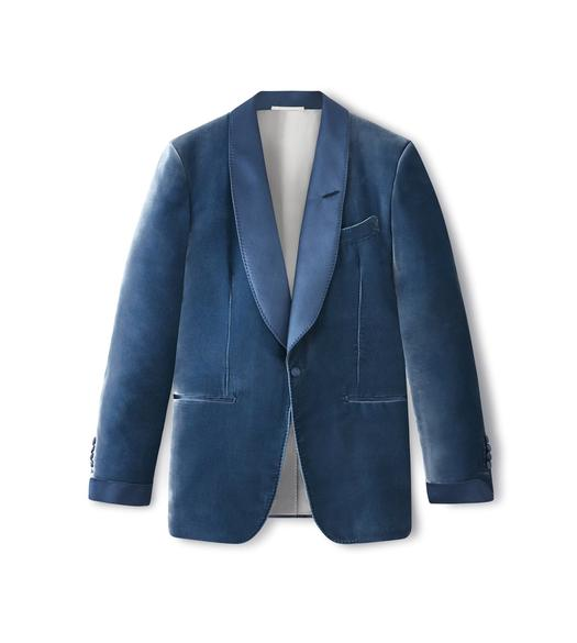 BLUE VELVET SHELTON COCKTAIL JACKET
