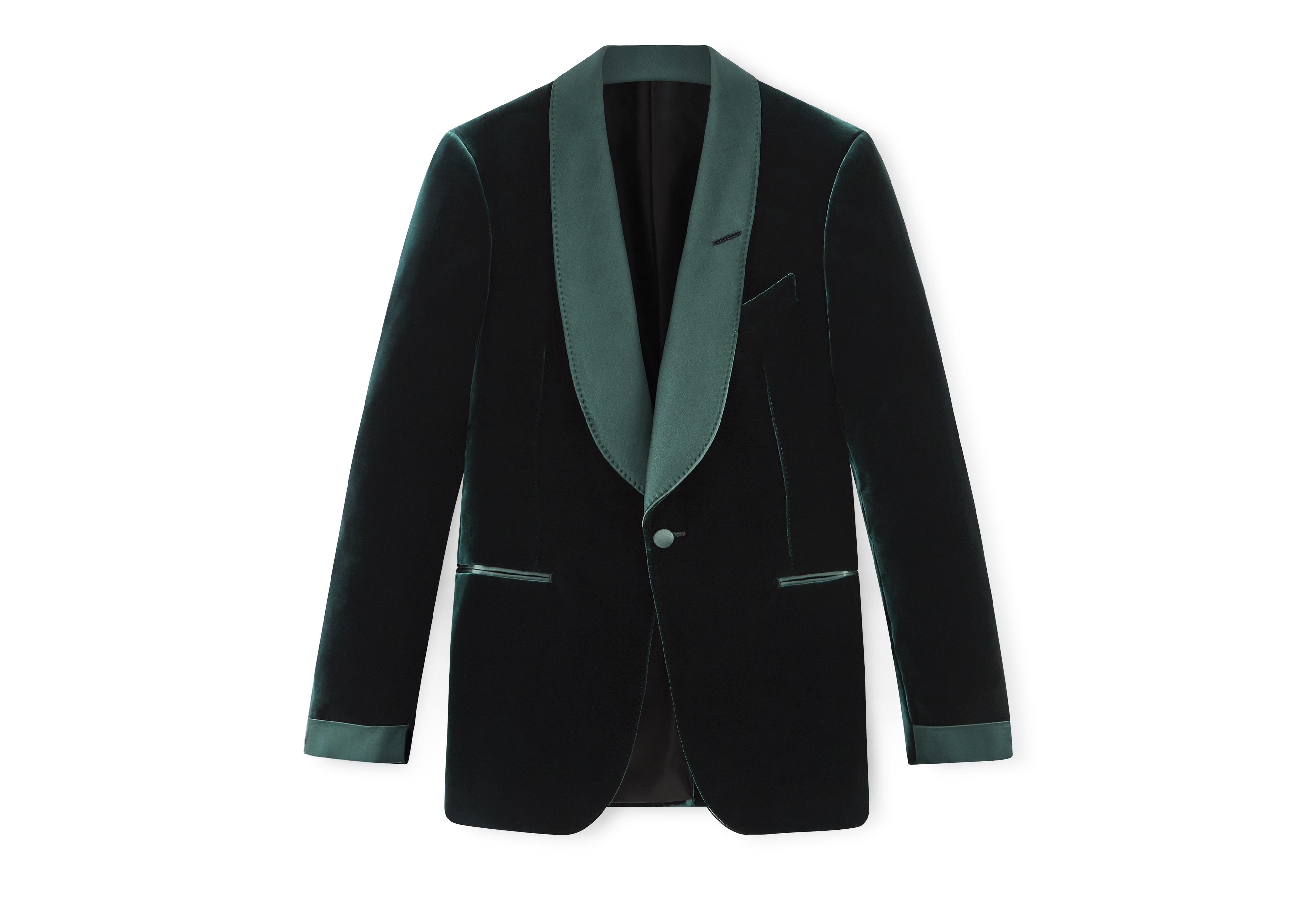 GREEN VELVET SHELTON COCKTAIL JACKET A thumbnail