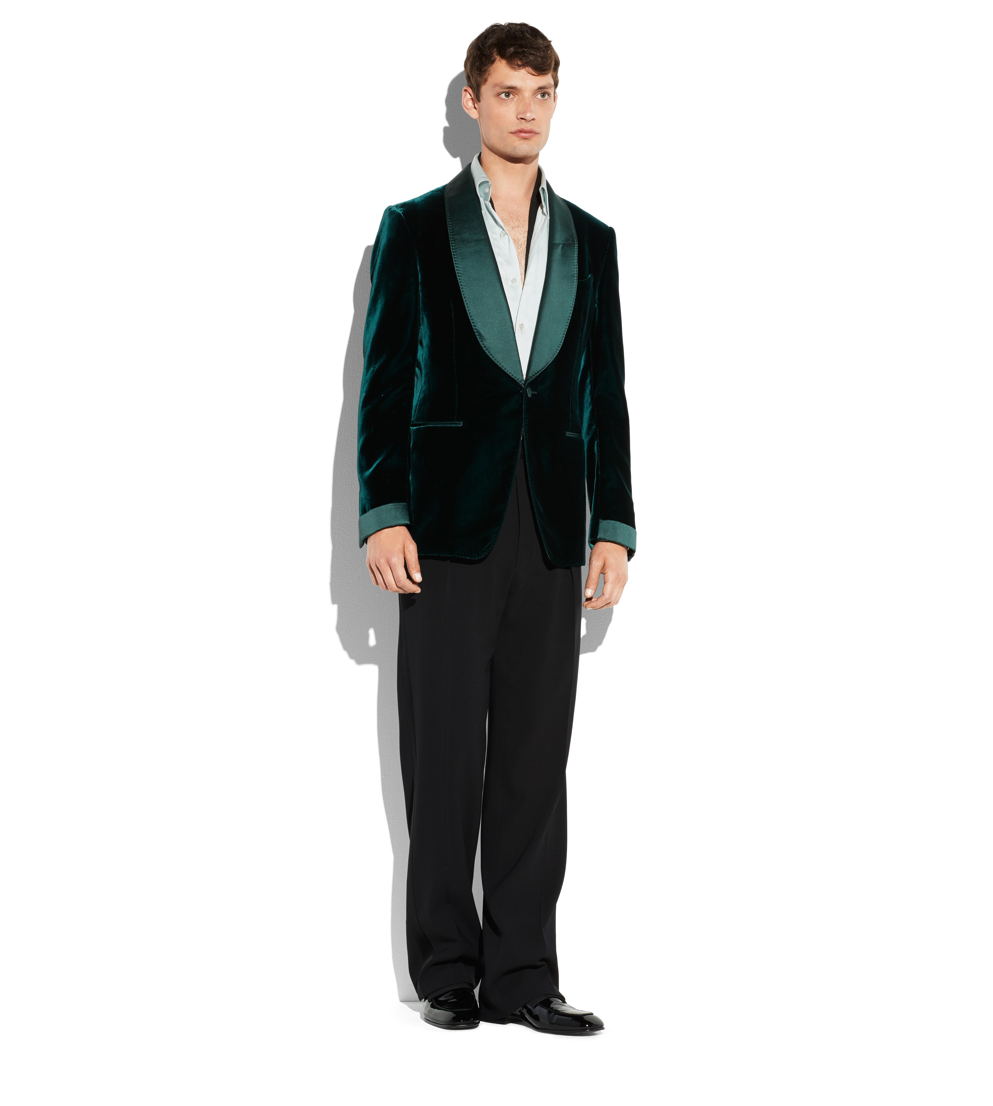 GREEN VELVET SHELTON COCKTAIL JACKET B thumbnail