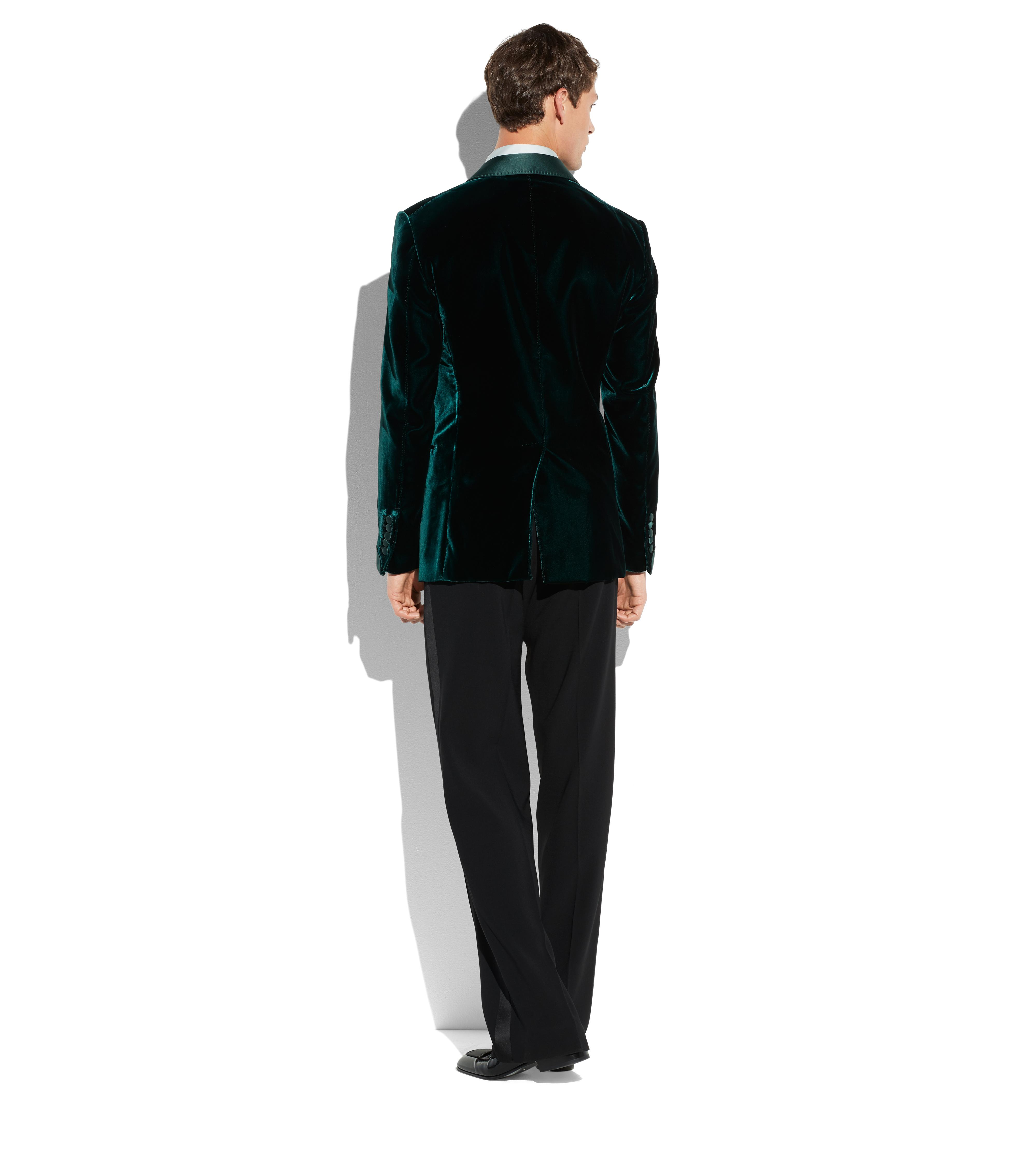 GREEN VELVET SHELTON COCKTAIL JACKET C thumbnail