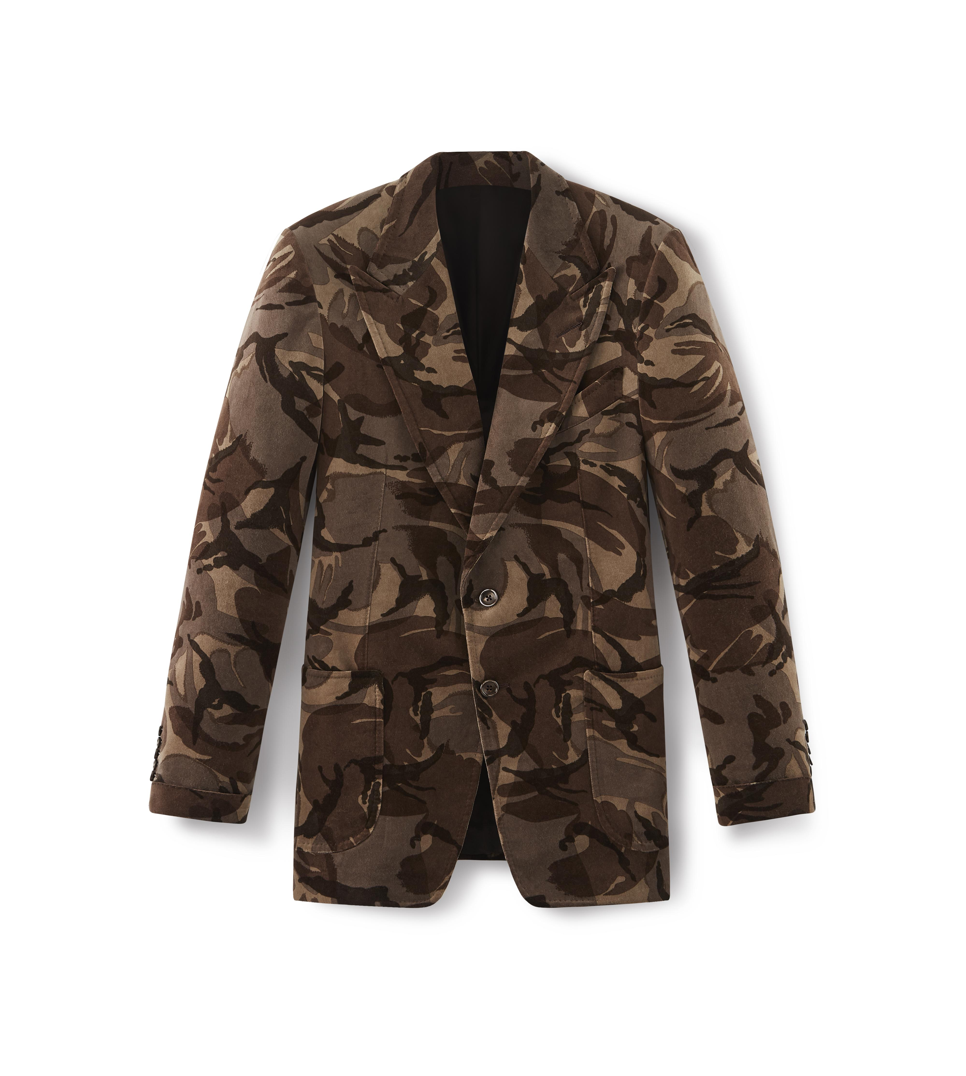 CAMOUFLAGE SHELTON PEAK LAPEL JACKET A thumbnail