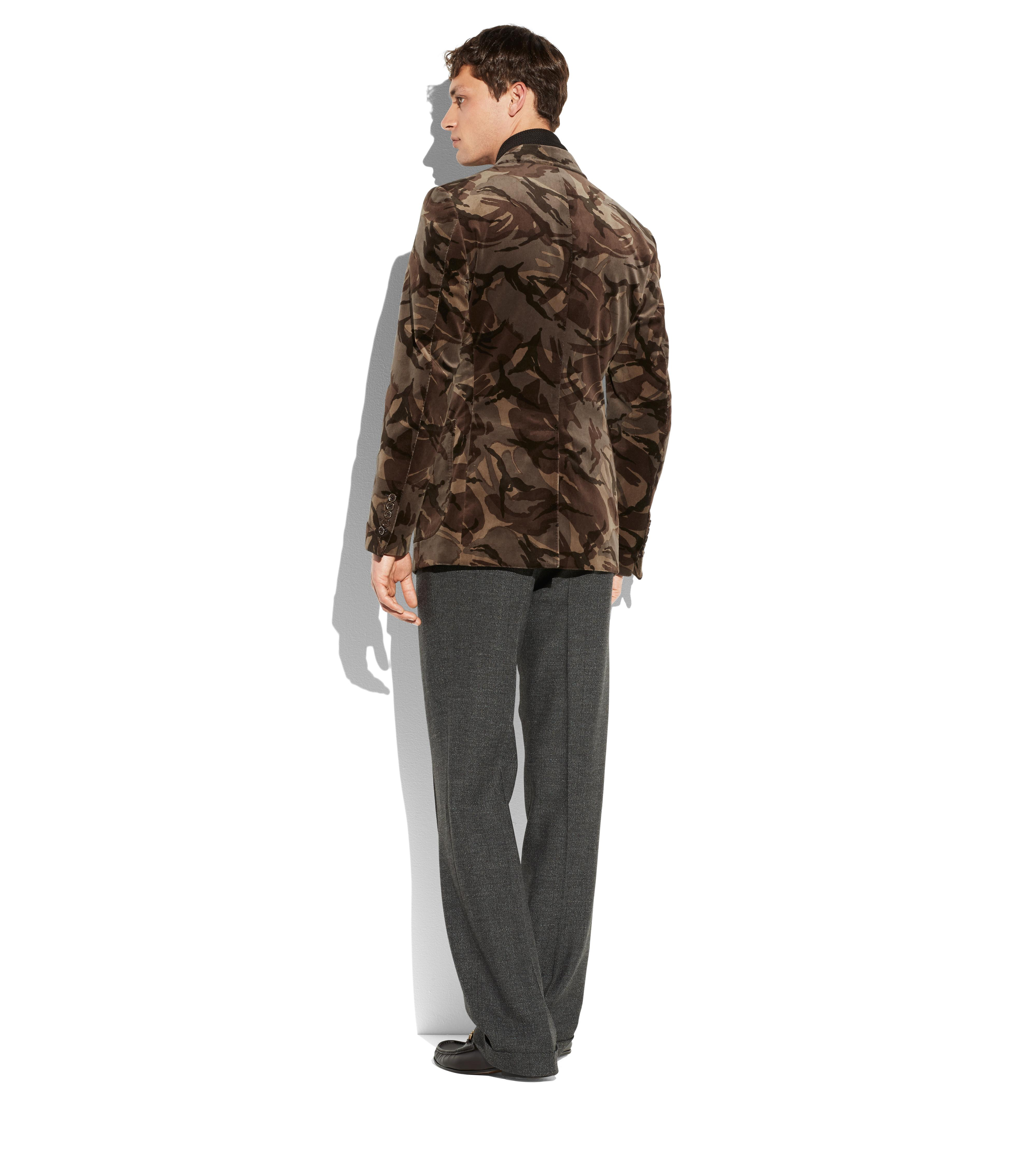 CAMOUFLAGE SHELTON PEAK LAPEL JACKET C thumbnail