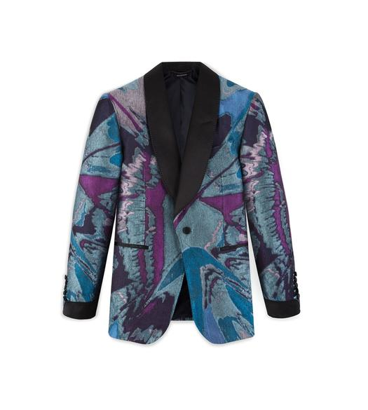 SPLASH JACQUARD SHELTON COCKTAIL JACKET