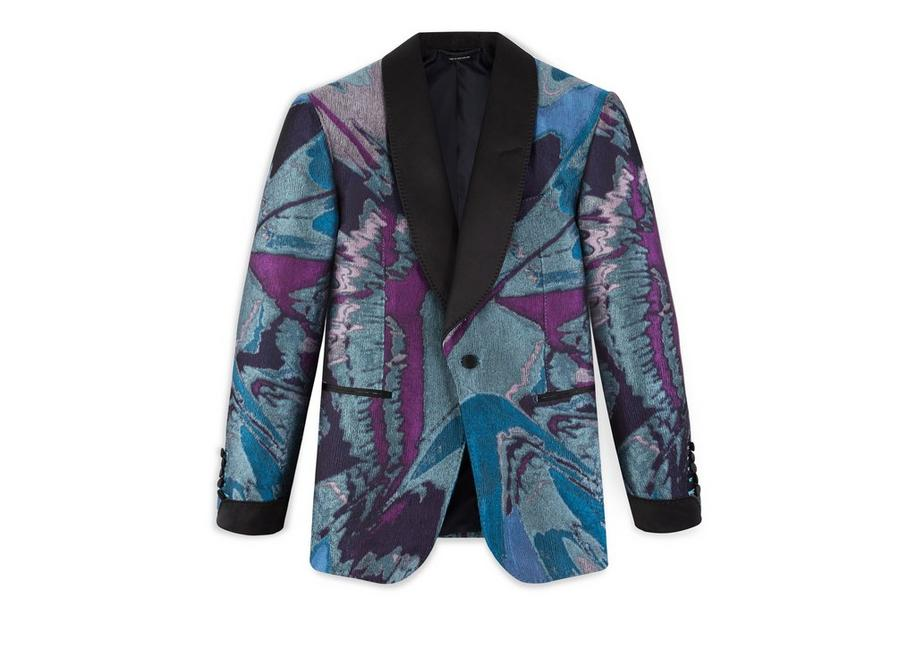 SPLASH JACQUARD SHELTON COCKTAIL JACKET A fullsize