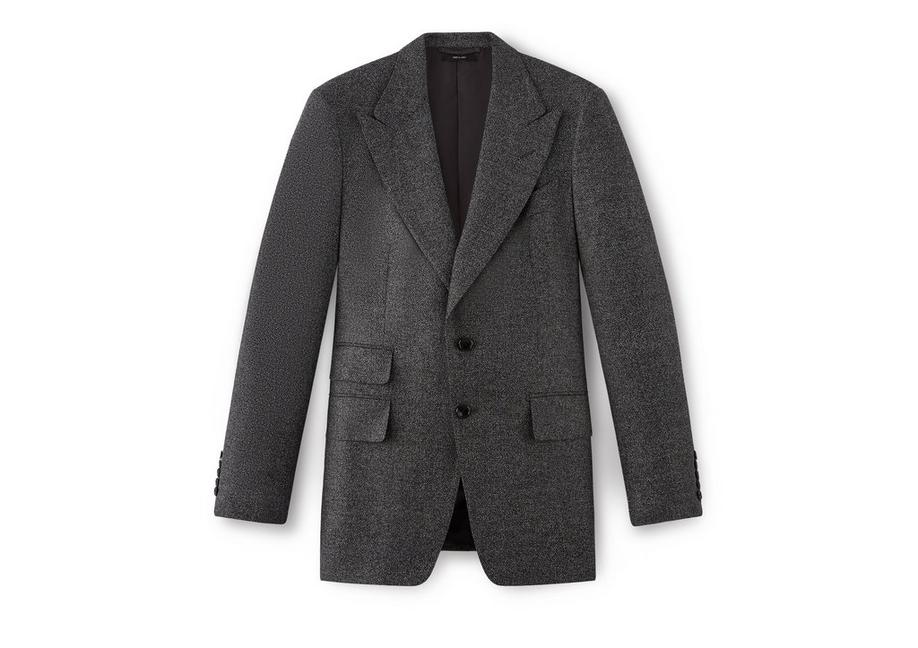 FLANNEL SHELTON PEAK LAPEL SPORT JACKET A fullsize