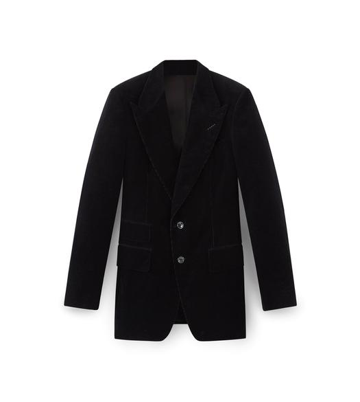 BLACK CORDUROY SHELTON SPORT JACKET