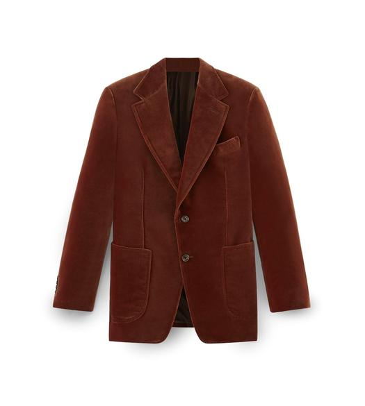 RUST VELVET SHELTON SPORT JACKET