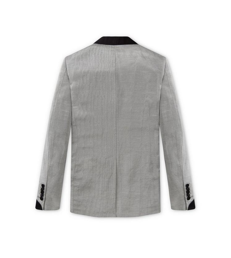 SILVER MOIRE' SHELTON SHAWL COCKTAIL JACKET B fullsize