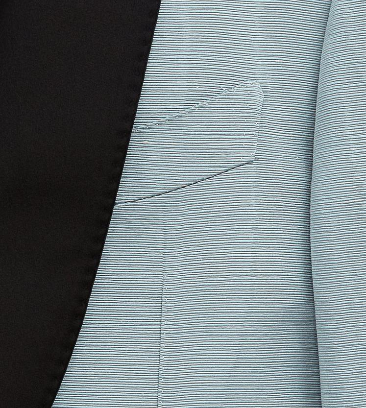 BLUE MOIRE' SHELTON SHAWL COCKTAIL JACKET C fullsize