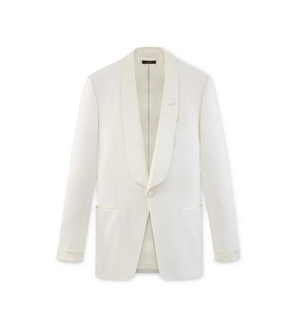 WHITE MOHAIR O'CONNOR COCKTAIL JACKET A fullsize