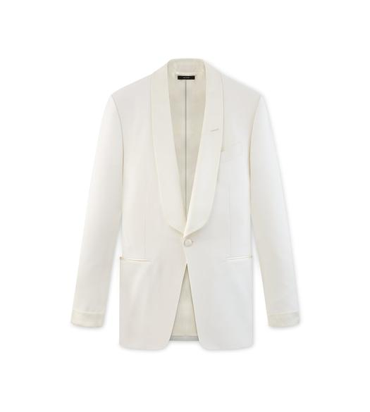 WHITE MOHAIR O'CONNOR COCKTAIL JACKET