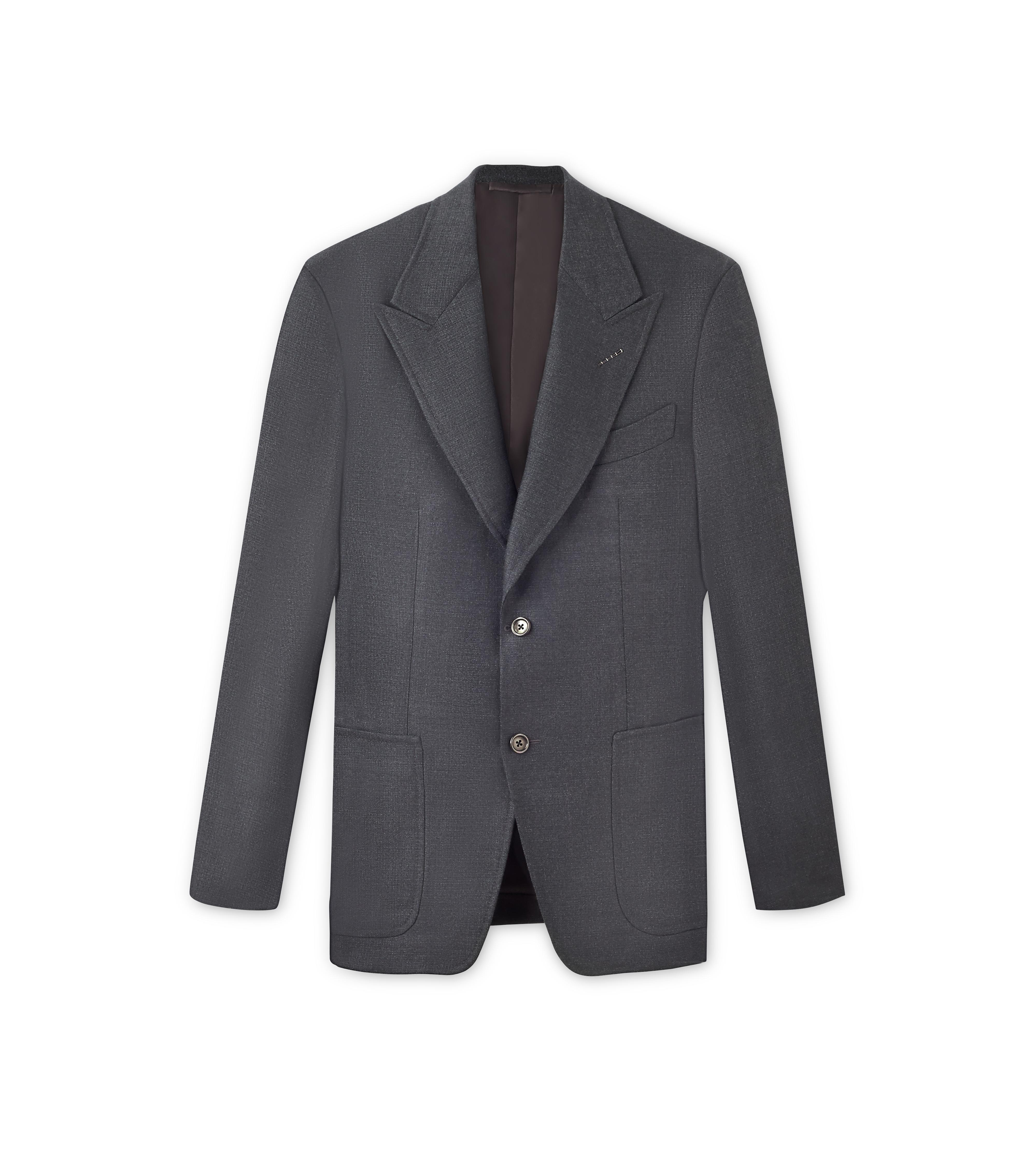 WOOL SILK DELAVE SPENCER SPORT JACKET A thumbnail