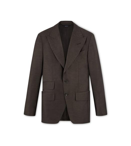 BROWN MOHAIR SILK ATTICUS JACKET