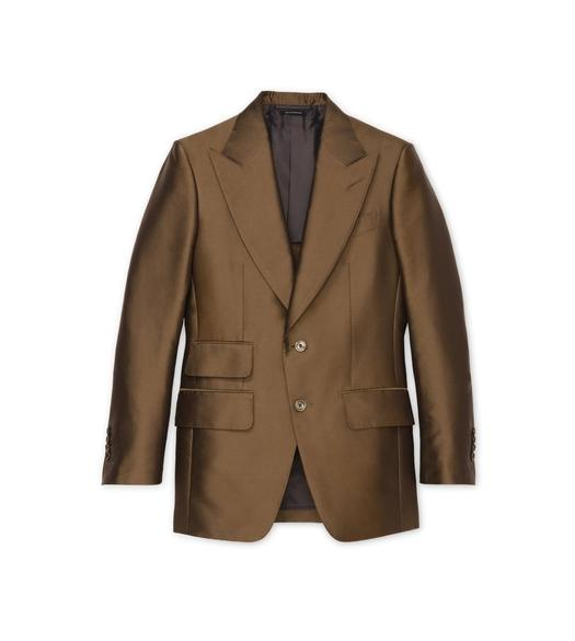 BROWN IRIDESCENT TWILL ATTICUS JACKET
