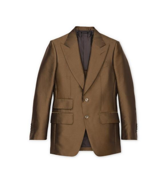 BROWN IRIDESCENT TWILL ATTICUS JACKET A fullsize