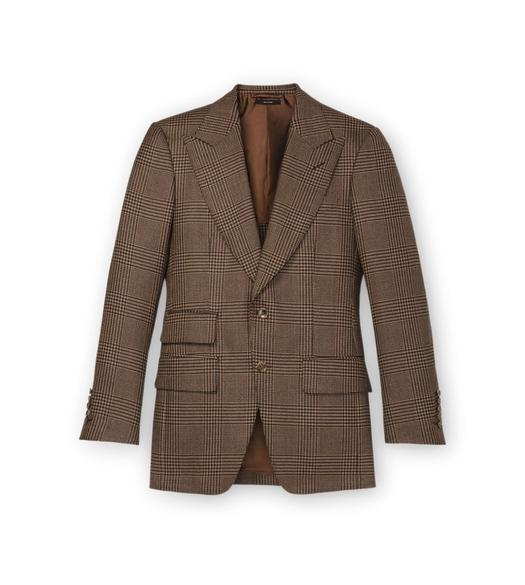 BROWN PRINCE OF WALES ATTICUS JACKET