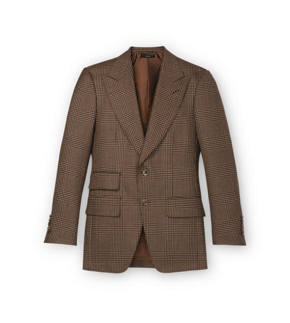 BROWN PRINCE OF WALES ATTICUS JACKET A fullsize