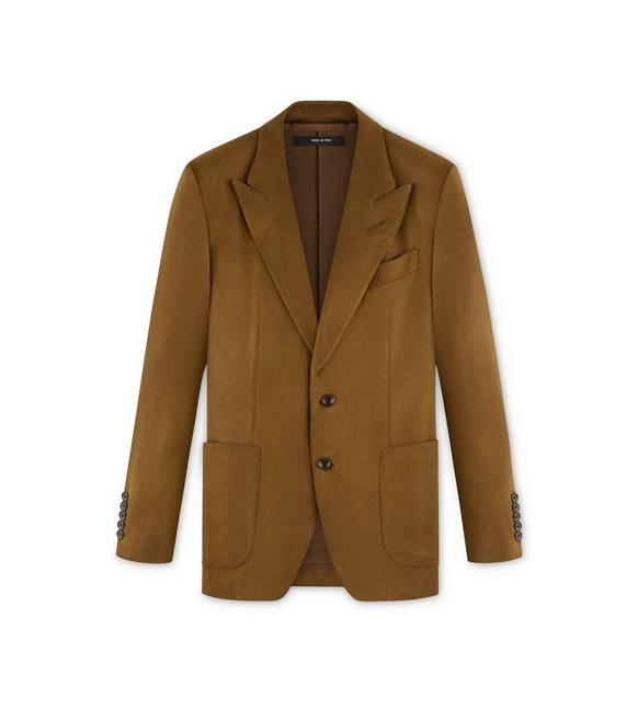 CAMEL BRUSHED CASHMERE SHELTON JACKET A fullsize
