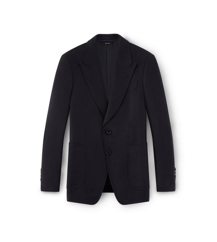 NAVY SHELTON PEAK LAPEL SPORT JACKET A fullsize