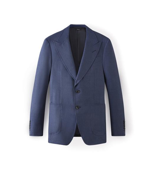 CASHMERE SHELTON PEAK LAPEL SPORT JACKET