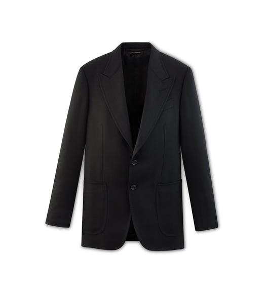 BLACK HIGH TWIST SHELTON JACKET