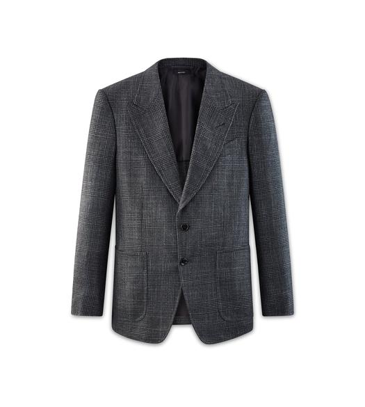 GREY CASHMERE SILK SHELTON JACKET
