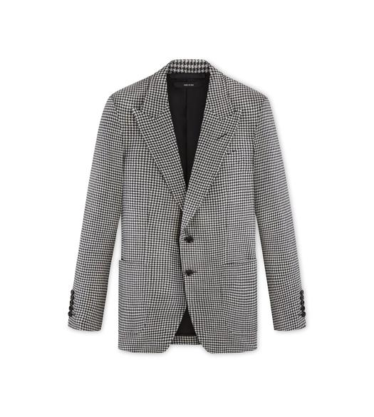 BLACK AND WHITE WOOL SHELTON JACKET