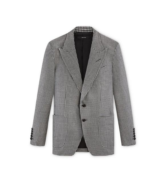BLACK AND WHITE WOOL SHELTON JACKET A fullsize