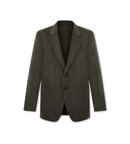 OLIVE CASHMERE O'CONNOR JACKET
