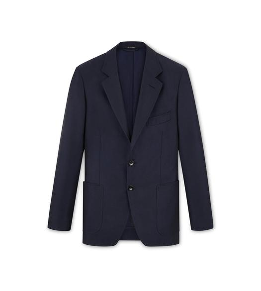 NAVY MOHAIR O'CONNOR JACKET