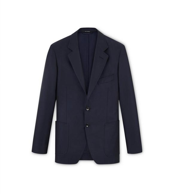 NAVY MOHAIR O'CONNOR JACKET A fullsize