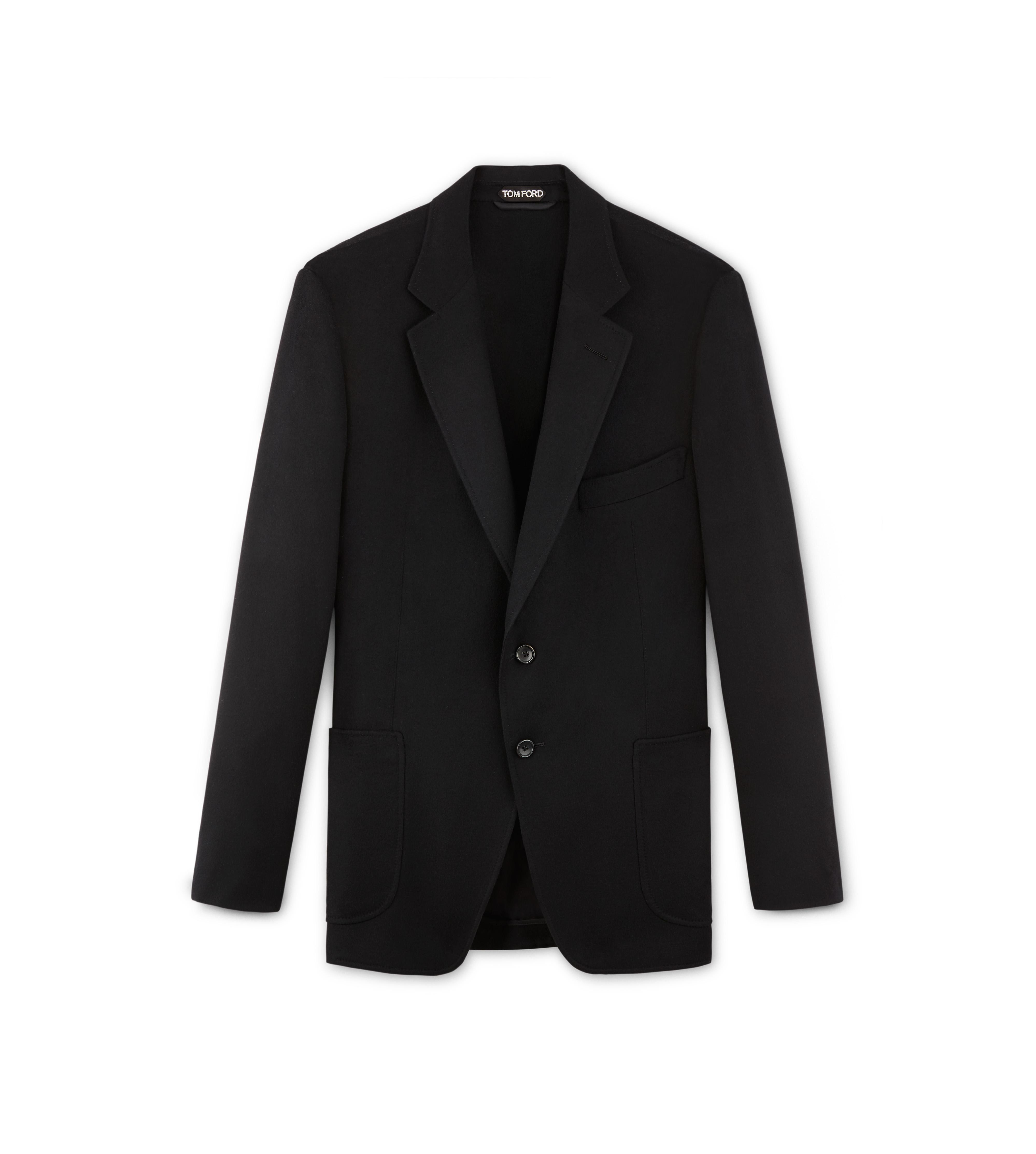 BLACK BRUSHED CASHMERE O'CONNOR SPORT JACKET A thumbnail