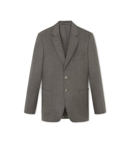 GREY BRUSHED CASHMERE SHELTON SPORT JACKET