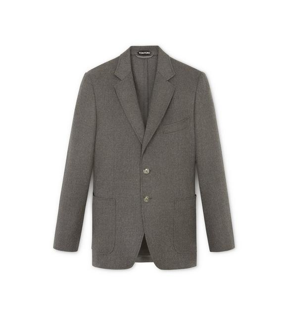 GREY BRUSHED CASHMERE SHELTON SPORT JACKET A fullsize