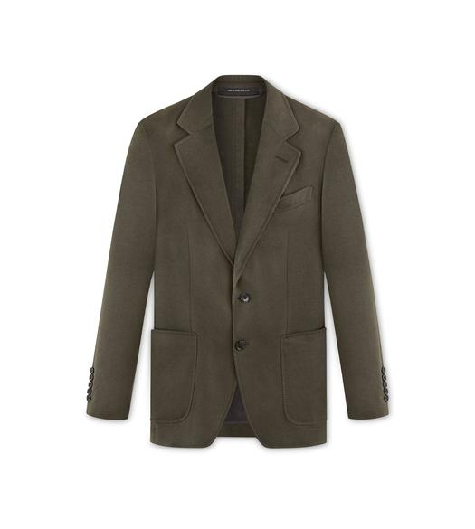 BRUSHED CASHMERE TWILL O'CONNOR JACKET