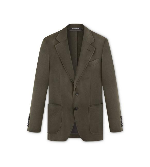 BRUSHED CASHMERE TWILL O'CONNOR JACKET A fullsize