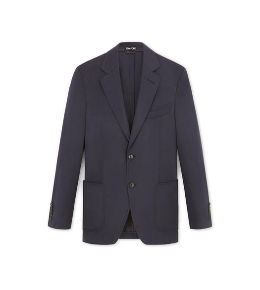 NAVY BRUSHED CASHMERE SHELTON SPORT JACKET