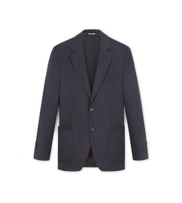 NAVY BRUSHED CASHMERE SHELTON SPORT JACKET A fullsize